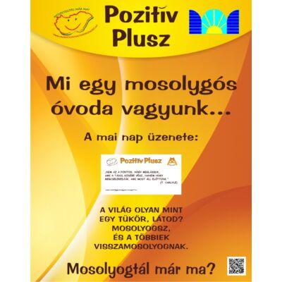 Pozitív Plusz megállítótábla 55 x 70 cm